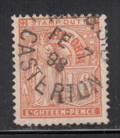 Victoria Used Scott #168 1sh6p Victoria Orange - 1850-1912 Victoria