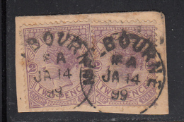 Victoria Used Scott #162 Two 2p Victoria With 'Stamp Duty' On Piece - 1850-1912 Victoria