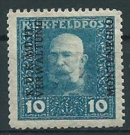KuK f�r Montenegro, Mi.1* Falz