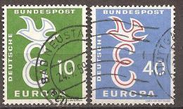 BRD 1958 // Mi. 295/296 O (M.029..602) - Europa-CEPT