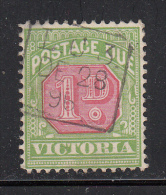 Victoria Used Scott #J16 1p Postage Due, Inverted Watermark - 1850-1912 Victoria