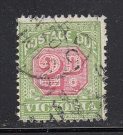 Victoria Used Scott #J17 2p Postage Due, Inverted Watermark - 1850-1912 Victoria