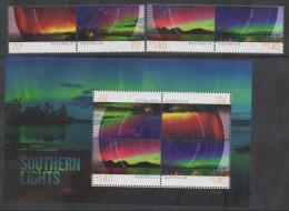 AUSTRALIA, 2014,MNH, SOUTHERN LIGHTS, 4v+SHEETLET - Aardrijkskunde
