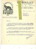 75 - Paris - PARIS-13e - Facture BOULLET - Spécialité : Peaux De Chats – 1946 - REF 116 - 1900 – 1949