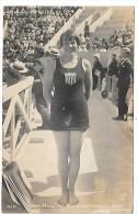 NATATION - JEUX OLYMPIQUES DE 1924 - Miss MORELINS - Championne Olympique Du 400 M - Drapeau USA - CARTE PHOTO - Natation