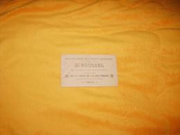 ANCIENNE CARTE DE PUBLICITE DATE ?. / G. ROUSSEL GRAVURES EN TOUS GENRES / GRAVEUR-DESSINATEUR PARIS. - Advertising