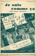 CAF CONC PARTITION FILM***HENRY GARAT LA FILLE ET LE GARÇON JE SUIS COMME ÇA HARVEY UFA ACE GILBERT BOYER 1932 ORIGINAL - Music & Instruments