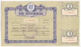Moldova  ; Moldavie  ; Moldau  ; 1994 ; Bon-profit Privatization + Tickets - Tickets - Vouchers