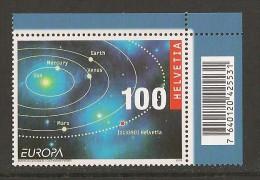 """SUIZA / SWITZERLAND/ SCHWEIZ / SUISSE - EUROPA 2009 - """"ASTRONOMIA"""" -  SERIE De 1 V. Con CÓDIGO De BARRAS - DENTADA - 2009"""