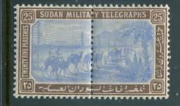Sudan Military Telegraph Stamp Yvert #16 Mint Hinged - Sudan (...-1951)