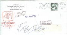 STORIA POSTALE, CASTELLI £.600, ISOLATO IN TARIFFA STAMPE  ESTERO FRANCIA, 1991, POSTE FAENZA - 1991-00: Marcophilia