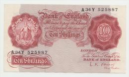 Great Britain 10 Shillings 1955 - 1960 AXF P 368c 368 C - 1952-… : Elizabeth II
