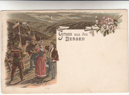 AK Gruss Aus Den Bergen (pk14743) - Gruss Aus.../ Grüsse Aus...