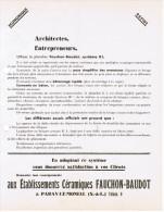 ETS CERAMIQUES FAUCHON-BAUDOT PARAY-LE-MONIAL SAONE & LOIRE PLANCHER SYSTEME KL - France