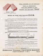 ETS CERAMIQUES FAUCHON-BAUDOT PARAY-LE-MONIAL SAONE & LOIRE MODE DE POSE DES DALLES Z.E.B. ZEB - France