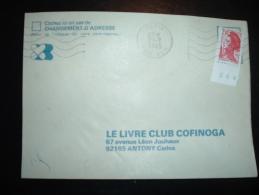 LETTRE TP LIBERTE DE GANDON 2,10F BORD NUMEROTE 264 OBL.MEC. 21-7-1985 PARIS GARE P.L.M. (75) - 1982-90 Liberty Of Gandon