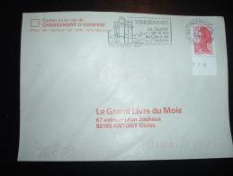 LETTRE TP LIBERTE DE GANDON 2,10F BORD NUMEROTE 728 OBL.MEC. 22-7-1985 VINCENNES PPAL (94 VAL DE MARNE) - 1982-90 Liberty Of Gandon