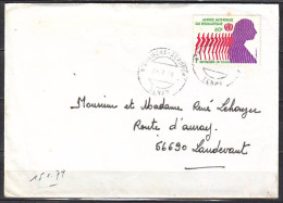 Lettre Cachet  N.DJAMENA Tchad  Le 28 7 1978  Pour 56690 LANDEVANT      Timbre SEUL S LETTRE - Tschad (1960-...)