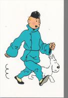 Carte Postale  10x15  Cm  Herge Tintin Et Milou - Cartes Postales