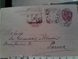 REGNO CARTOLINA POSTALE UMBERTO I IN OVALE MILLESIMO 96  DA BOZZOLO  Avvocato ZANI 1897 EM9598 - 1878-00 Umberto I