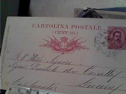 REGNO CARTOLINA POSTALE 10 C  MILLESIMO 89 DA FOGGIA X LUCERA  1890 EM9601 - 1878-00 Umberto I