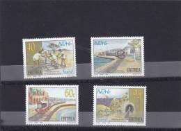 Stamps ERITREA 1996 SC 278-281 REVIVAL ERITREA RAILWAY IPZS ITALY MNH SET ER#9 - Eritrea