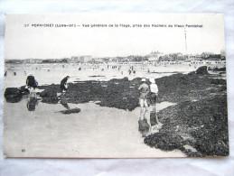 CPA Ancienne Carte Postale  PORNICHET 44 Vue De La Plage  Etat Excellent Non Circulée - Pornichet