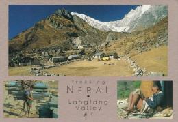 Langtang Valley.  Trekking  Nepal.   # 737 # - Nepal
