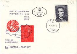 A-Wien 1966. Peter Anich, Kartograph (5.729) - 1961-70 Covers