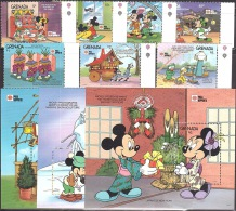 Walt Disney  MiNr. 2245 - 2255 (Block 275) Grenada  MNH / ** / POSTFRISCH - Disney