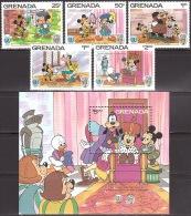 Walt Disney  MiNr. 1417 - 1422 (Block 147) Grenada  MNH / ** / POSTFRISCH - Disney