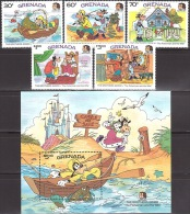 Walt Disney  MiNr. 1423 - 1428 (Block 148) Grenada   MNH / ** / POSTFRISCH - Disney