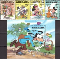 Walt Disney  MiNr. 1086 - 1090 (Block 94) Grenada MNH / ** / POSTFRISCH - Disney