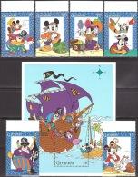 Walt Disney MiNr. 3066 - 3071,3073 (Block 406) Grenada  MNH / ** / POSTFRISCH - Disney