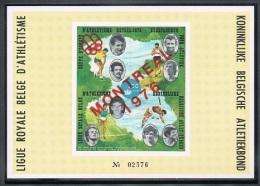 Année 1973 -   E127A** -  Feuillet Luxe  Numéroté   -  Coupe D'Europe D'athlétisme Au Heysel - Cote  10,00€ - Commemorative Labels