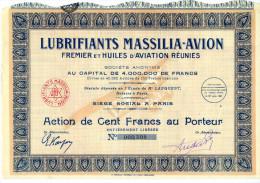 LUBRIFIANTS MASSILIA - AVION - Pétrole
