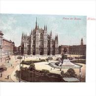 ITLATP1336C-LFTD5094TTSC.TARJETA POSTAL DE ITALIA.Plada Del Duomo,Catedral De MILAN,Circulacion,Tranvia S - Postales