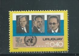Uruguay  ** ,   1366 Ex , Ehem. Generalsekretäre Der UNO: Trygve Lie, Dag Hammarskjöld Und U-Thant - Uruguay