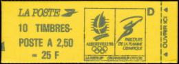 Carnet Marianne De BRIAT - Réf. YT 2715-C4 (Albertville 92 + Lettre D) - Confect. 6 - Carnets