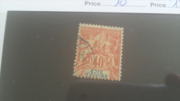 LOT 227547 TIMBRE DE COLONIE COTE IVOIRE OBLITERE N�10 VALEUR 18 EUROS
