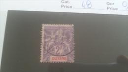 LOT 227550 TIMBRE DE COLONIE GUYANE OBLITERE N�18/19 VALEUR 10 EUROS