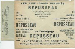 Official Envelop Publicity/ Publicité  Postcheques 1934 Accessoires Automobiles Ect...