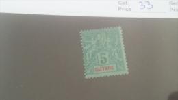 LOT 227632 TIMBRE DE COLONIE GUYANE NEUF* N�33 VALEUR 14 EUROS