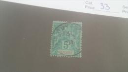 LOT 227633 TIMBRE DE COLONIE GUYANE OBLITERE N�33 VALEUR 12 EUROS