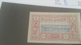 LOT 227640 TIMBRE DE COLONIE SOMALIS NEUF(*) N�8 VALEUR 20 EUROS