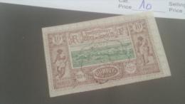 LOT 227644 TIMBRE DE COLONIE SOMALIS OBLITERE N�10 VALEUR 11 EUROS