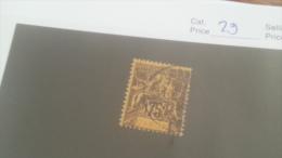 LOT 227656 TIMBRE DE COLONIE GABON OBLITERE N�29 VALEUR 25 EUROS