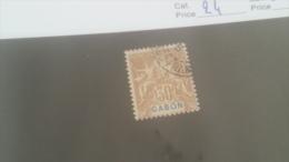 LOT 227660 TIMBRE DE COLONIE GABON OBLITERE N�24 VALEUR 17 EUROS