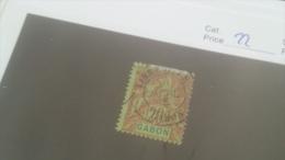 LOT 227661 TIMBRE DE COLONIE GABON OBLITERE N�22 VALEUR 13 EUROS