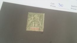LOT 227662 TIMBRE DE COLONIE GABON NEUF* N�30 VALEUR 45 EUROS